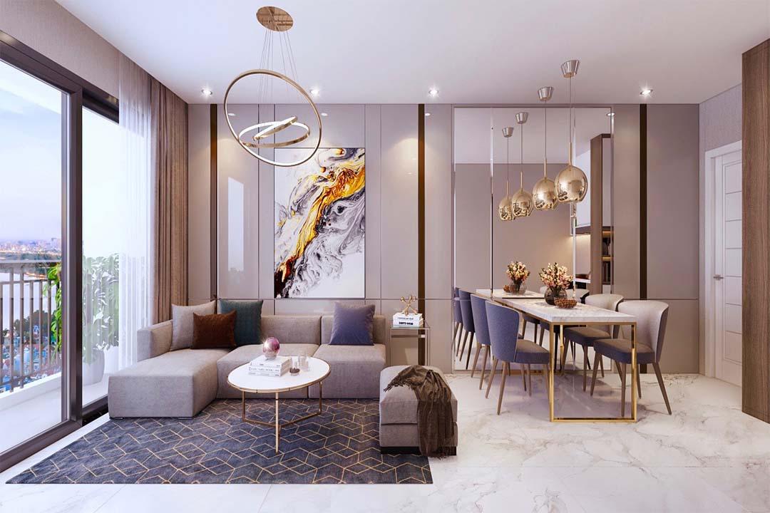 Phòng khách bếp Safira Khang Điền