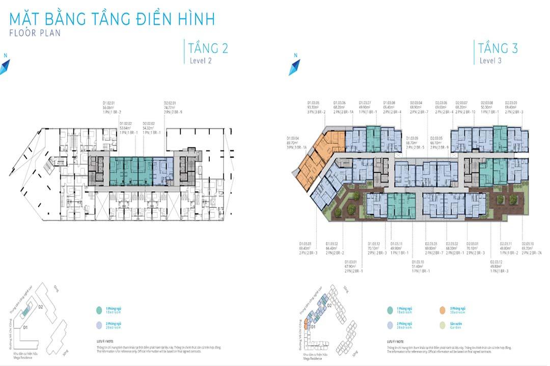 Mặt bằng tầng căn hộ Safira Khang Điền