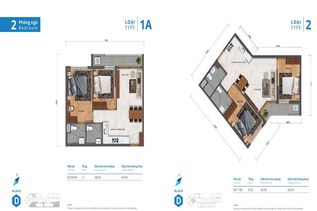 Mặt bằng thiết kế căn hộ Safira Khang Điền 3PN