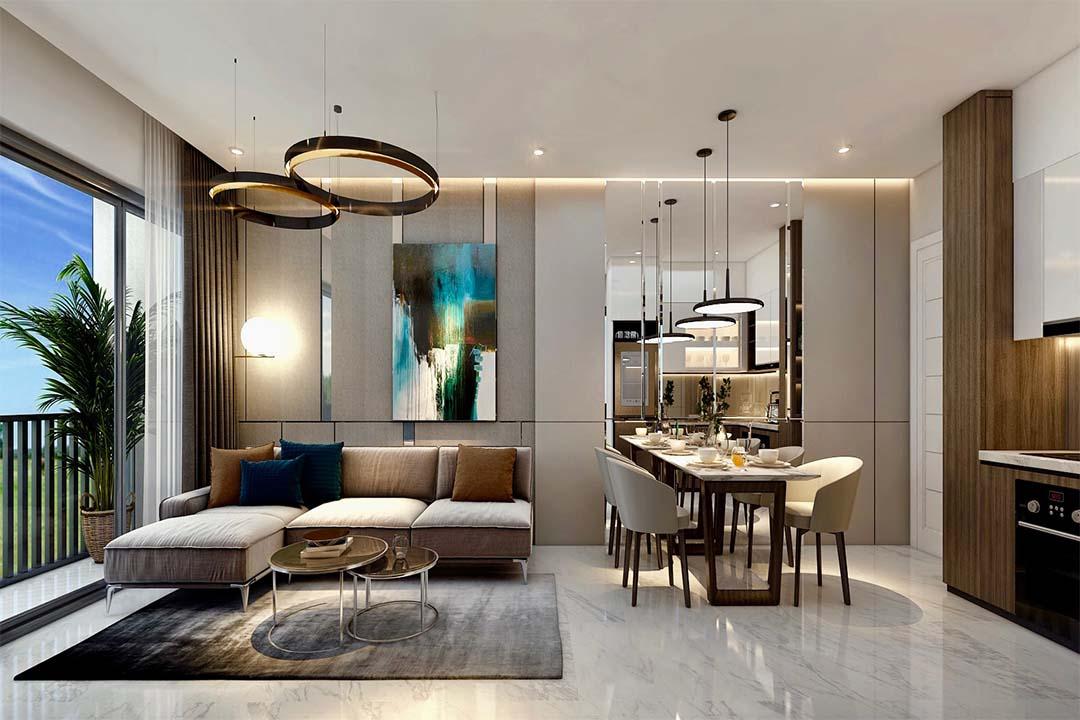 Phòng khách ngủ Safira Khang Điền