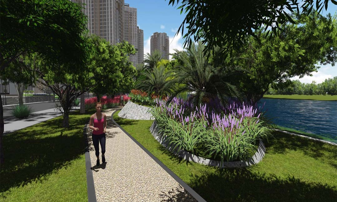 Tiện ích nội khu căn hộ Gem Riverside - khu công viên